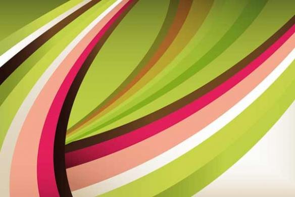 Tableau design deco courbe seventies
