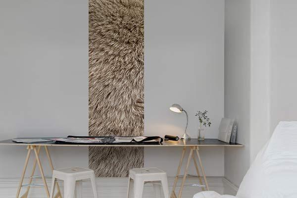 d co murale trompe l 39 oeil fourrure izoa. Black Bedroom Furniture Sets. Home Design Ideas