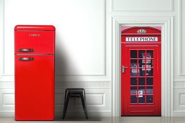 Sticker porte d co cabine t l phonique londonienne izoa for Stickers pour porte d entree