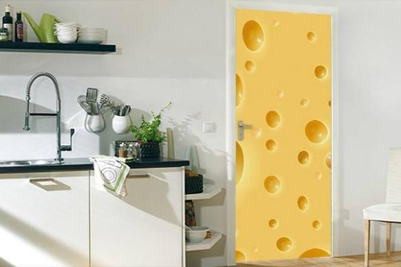 déco porte Gruyère fromage