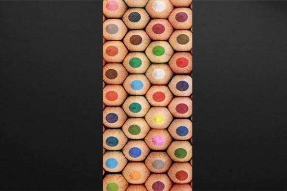 décoration porte crayons de couleurs