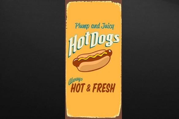 Sticker porte cuisine original Hot Dog