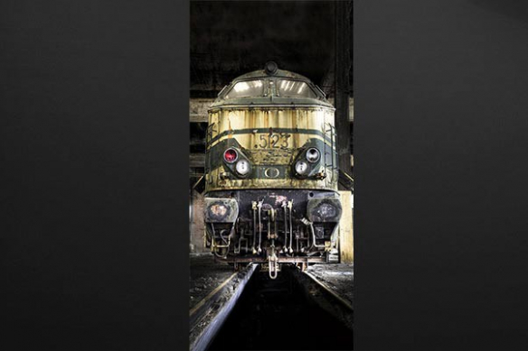 Sticker Porte Déco industriel Vieux Train
