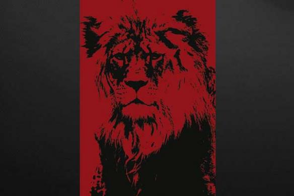 Toile déco Lion rouge