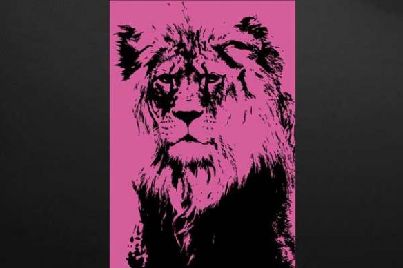déco originale lion rose