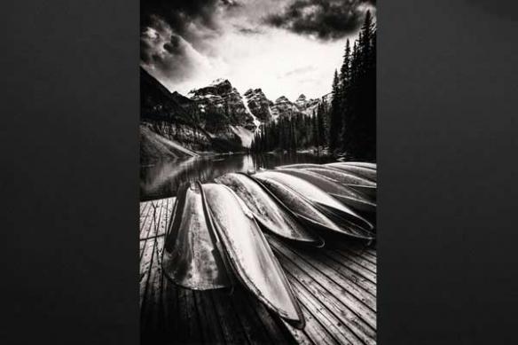 Tableau photo noir et blanc montagnes