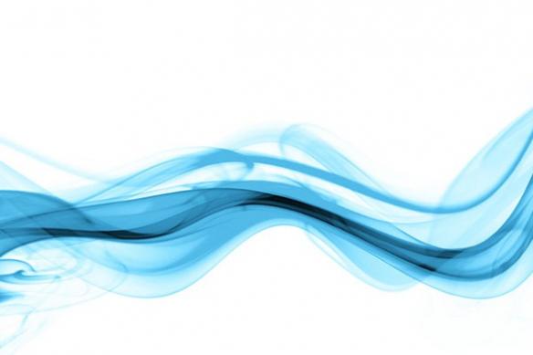 toile design fumée bleu ciel