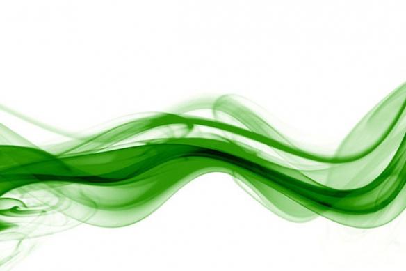 tableau design original fumée vert