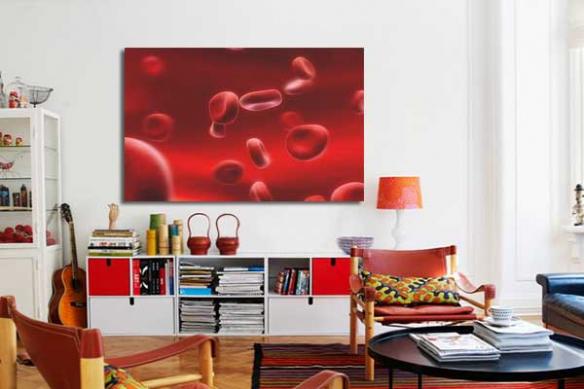 Tableau design Hemoglobine rouge