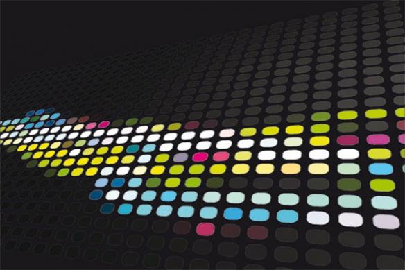 Toile design moderne ronds couleurs