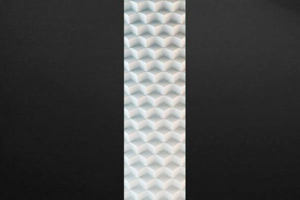 decoration design Cubic blanc