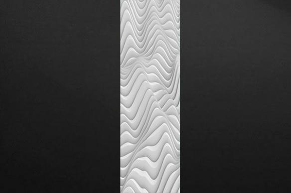 Papier peint chambre effet vagues blanches