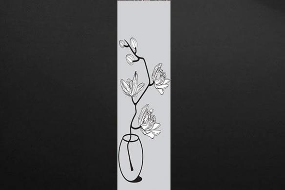 poster xxl déco tendance vase fleur