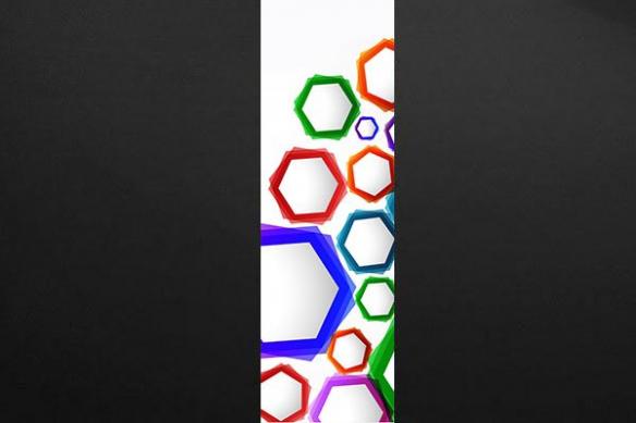 Papier peint abstrait formes colorés