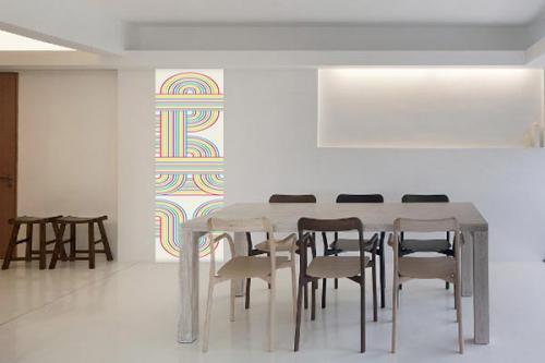 Papier peint cuisine murale Labyrinthe