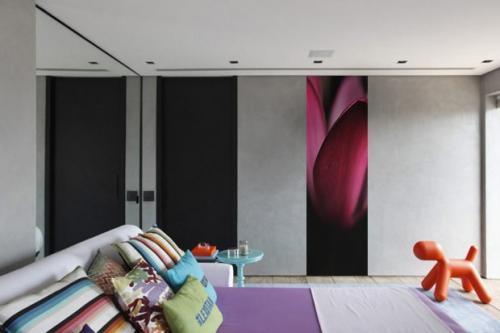 Papier peint trompe oeil Pétales tulipes