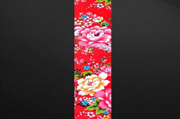 Lé Papier peint couleur fleur rouge Polanska