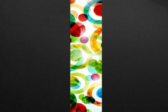 Lé  Papier peint  design abstrait Polychrome