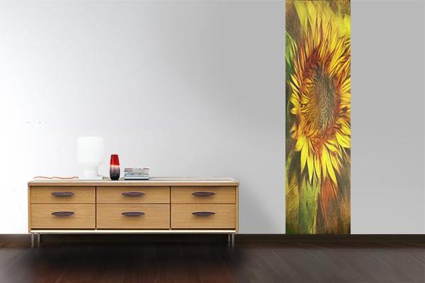 papier peint fleur tournesol izoa. Black Bedroom Furniture Sets. Home Design Ideas