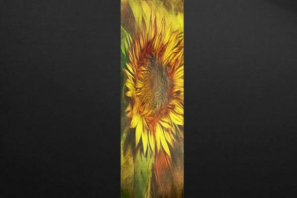lé Papier peint Fleur Tournesol jaune