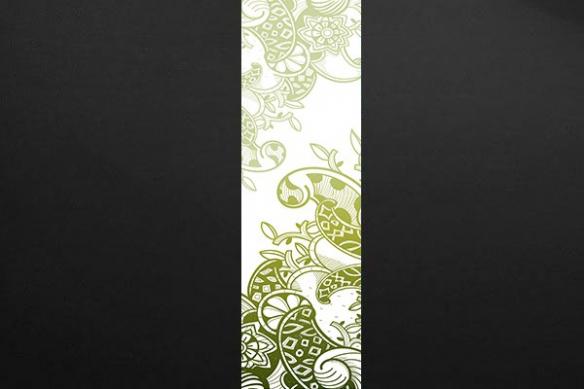 lé Papier peint mur arabesque moderne vert