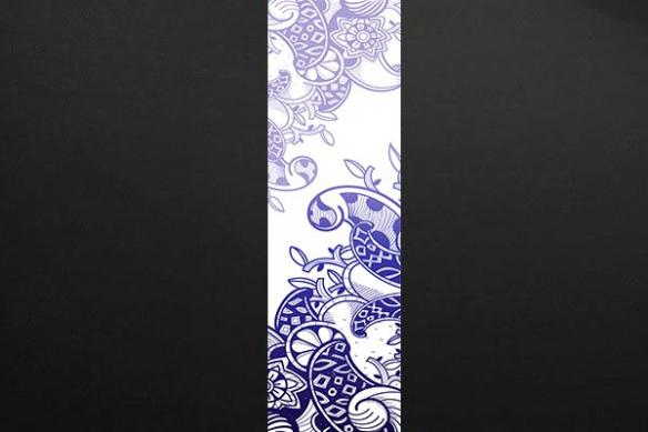 lé Papier peint arabesque design bleu