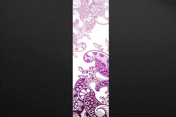 Papier peint design arabesque original rose