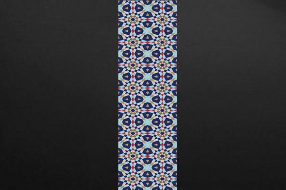 lé Papier peint moderne Mozaïc bleu