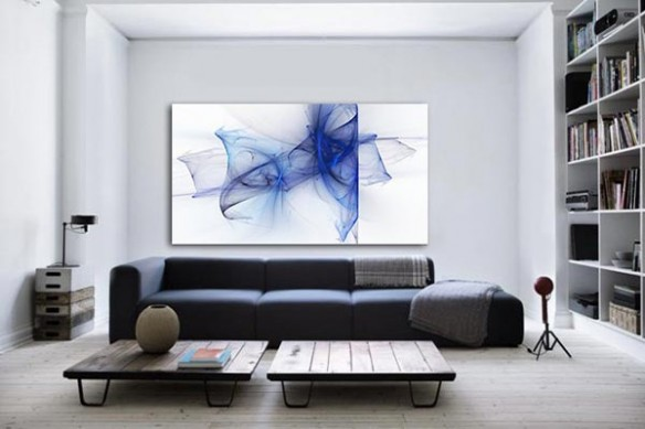 Tableau design Aérien bleu
