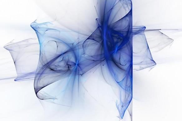 Toile design abstraite Aérien bleu