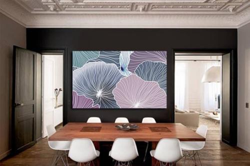 Tableau abstrait design Cellulose