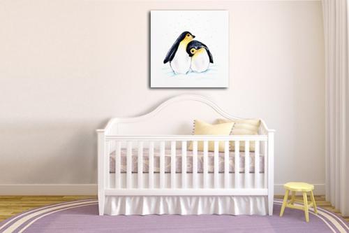 Tableau déco chambre enfant Pingouins