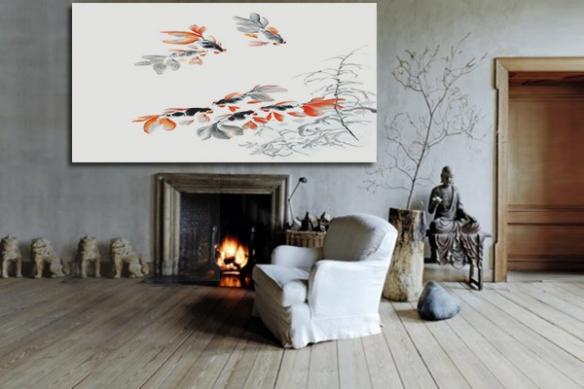 Tableau Deco zen Poisson Papillon