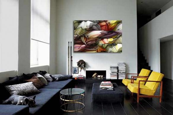 Tableau abstrait  contemporain Alliage