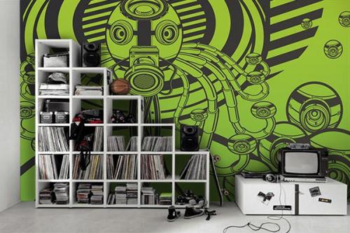 Poster mural design Webcam vert