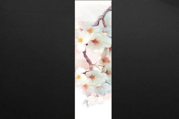 deco mur romantique poster fleur blanches
