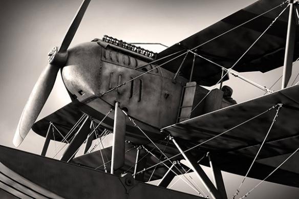 poster géant mur avion noir et blanc