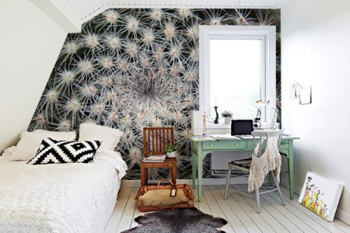 deco chambre poster xxl Coeur de Cactus