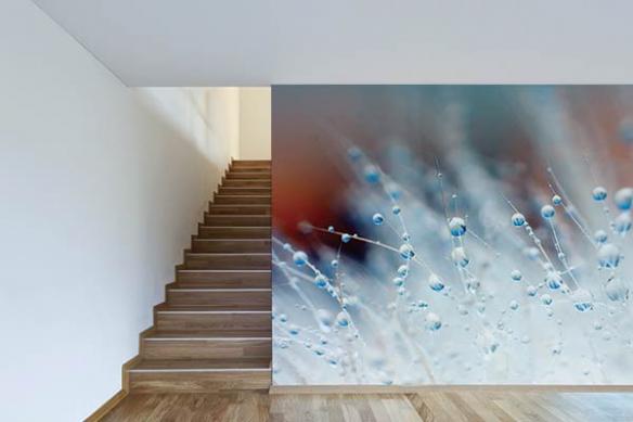 deco mur moderne poster gouttes d'eau