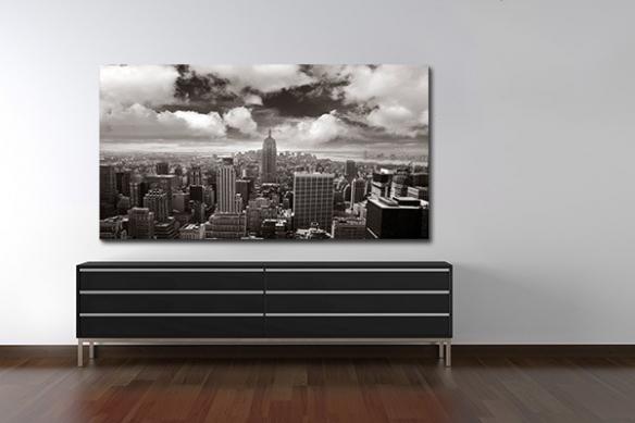 Tableau New York noir et blanc grand format