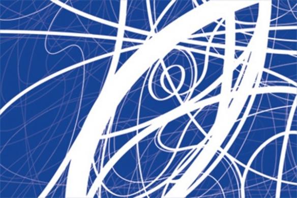 décoration mural Tableau abstrait bleu