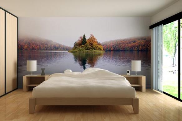 déco chambre poster géant paysage