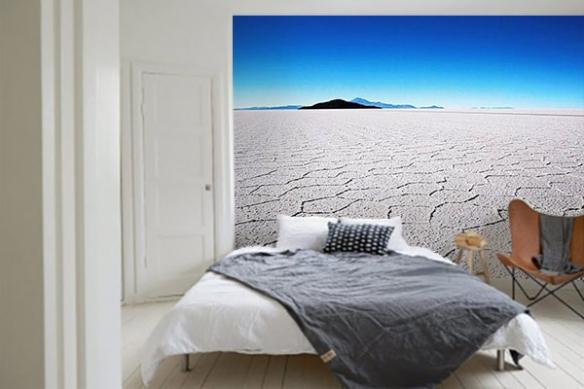 Papier peint chambre Lac de sel