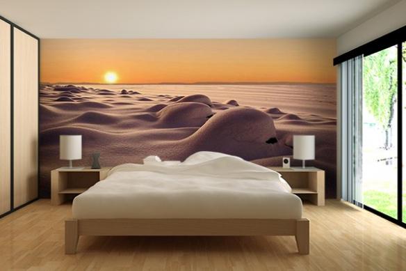 papier peint chambre dunes de neige