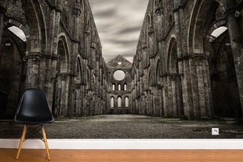 Papier peint original Eglise gothique anglaise