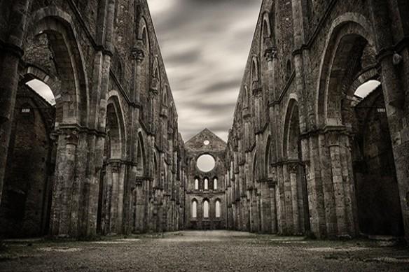 décor trompe l'eoil Eglise gothique anglaise
