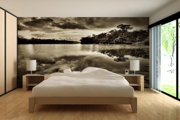 Poster mural paysage Etrange reflet