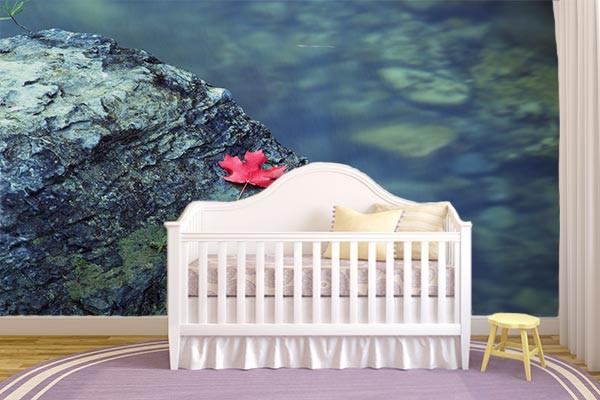 d co mur feuille rouge izoa. Black Bedroom Furniture Sets. Home Design Ideas