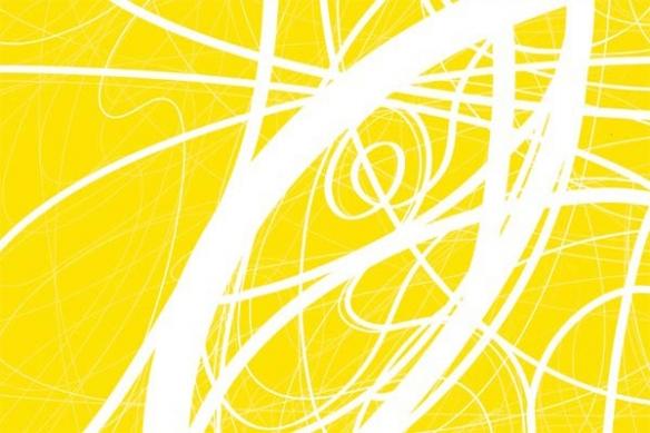 toile abstraite design Ficelle