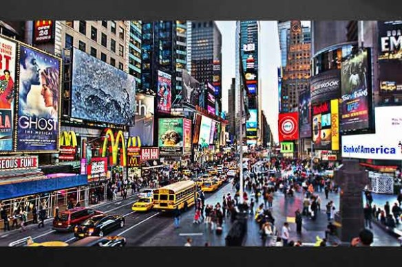 Déco mur toile new york city life